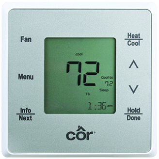 cf cor 5 thermostat
