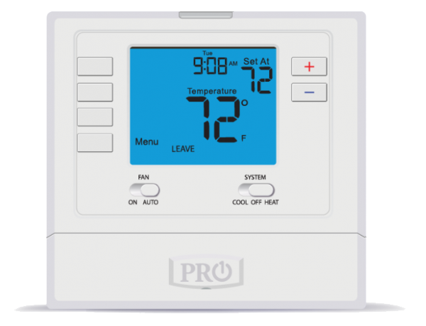 cf t705 pro1 programmable digital thermostat 7 day or 5 1 1 2 heat 1 cool